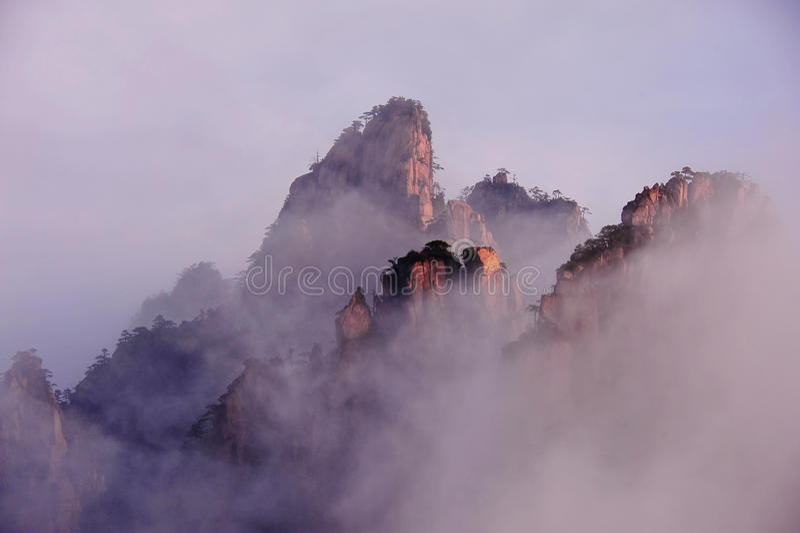Гора Huangshan (желтая) стоковая фотография rf