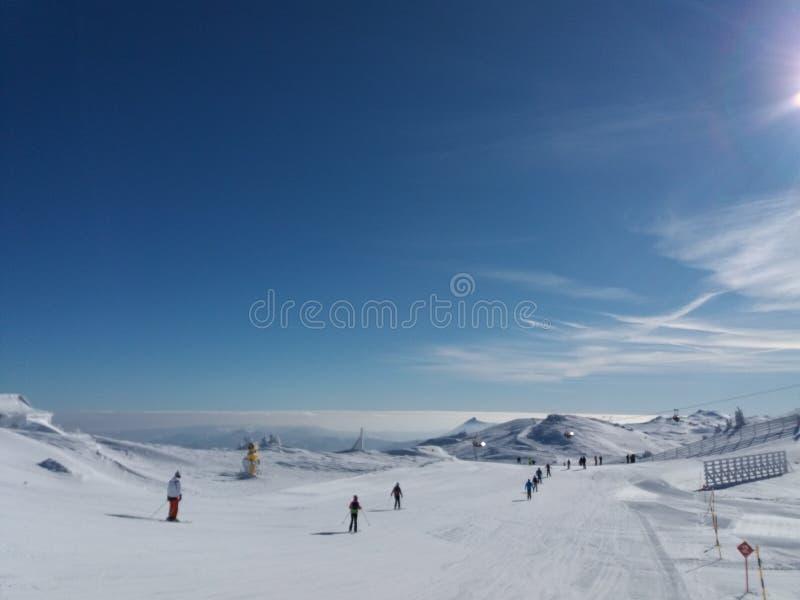 Гора Jahorina - лыжный курорт стоковые фото