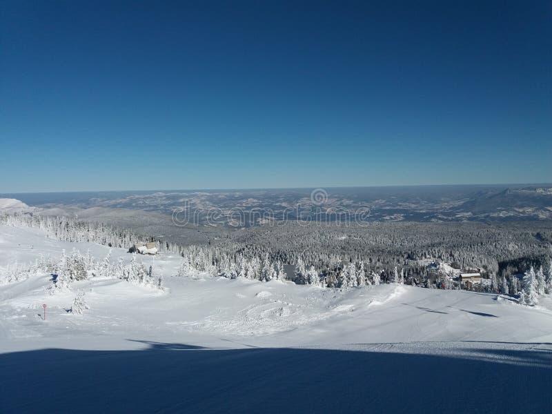 Гора Jahorina - лыжный курорт стоковые изображения rf