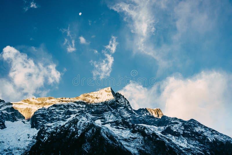 Гора Kondge Ri в Непале стоковое изображение