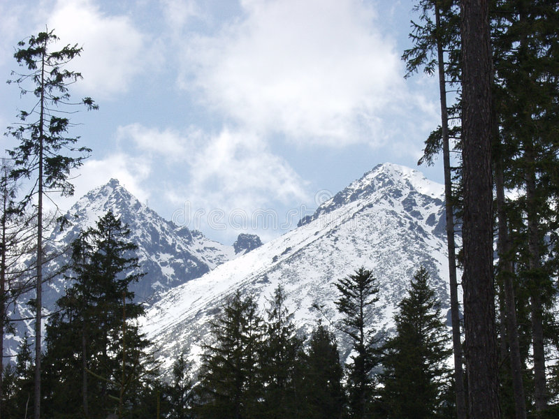 гора Lomnica Стоковые Фото