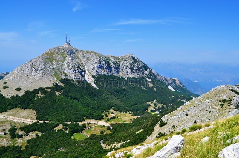 Гора Lovcen - Черногория стоковые изображения rf