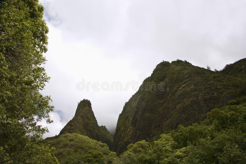 гора maui ландшафта стоковые фотографии rf