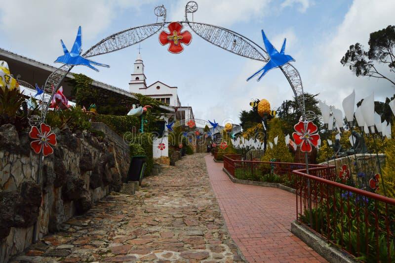Гора Monserrate в Боготе, Колумбии стоковые изображения