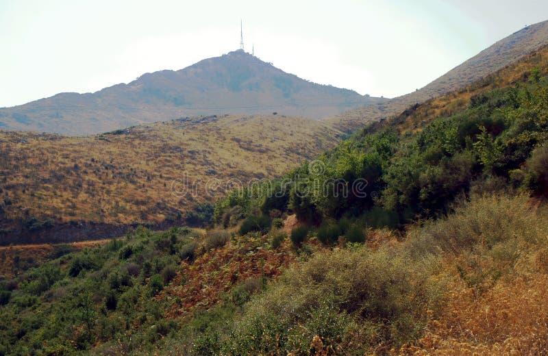 Гора Pantokrator, остров Corfu стоковые фотографии rf