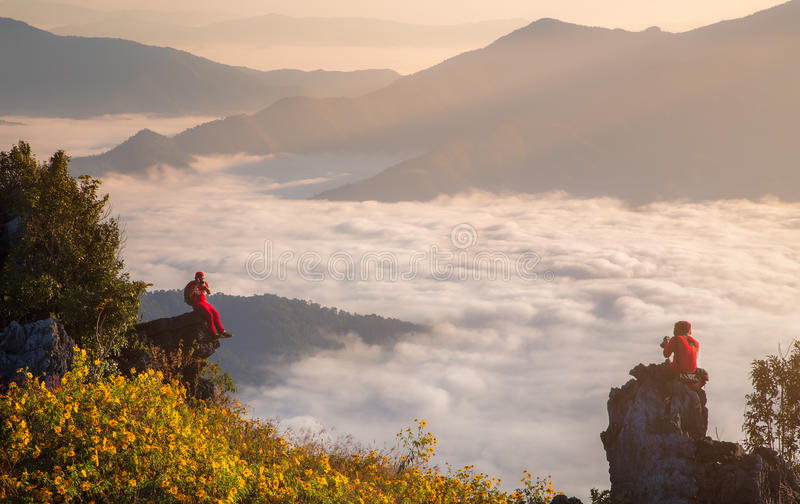 Гора Pha Tung на Chiang Rai стоковые фотографии rf