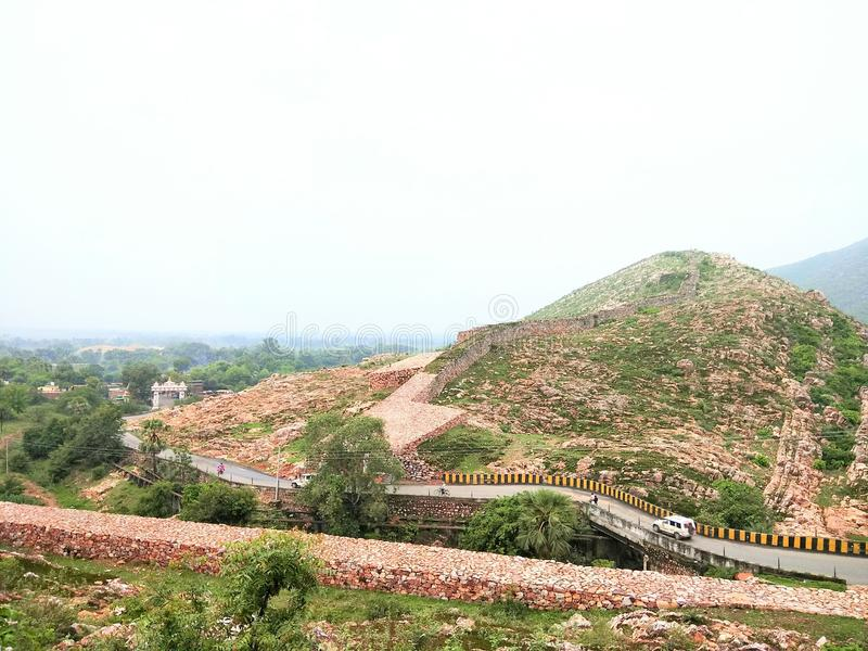 Гора Rajgir стоковое фото rf
