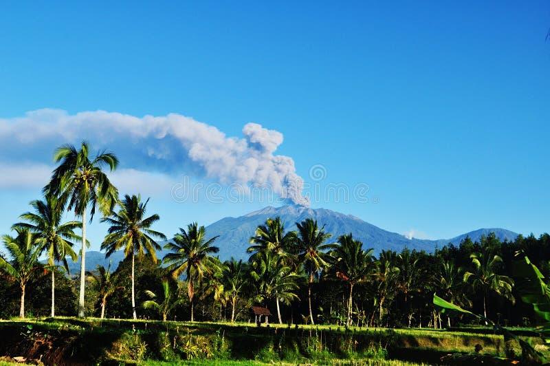 Гора Raung стоковые изображения
