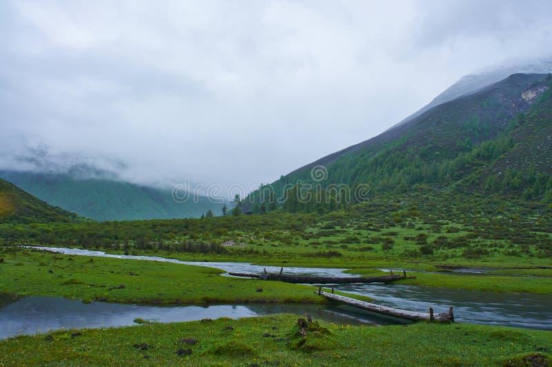 Гора Siguniang стоковое фото rf