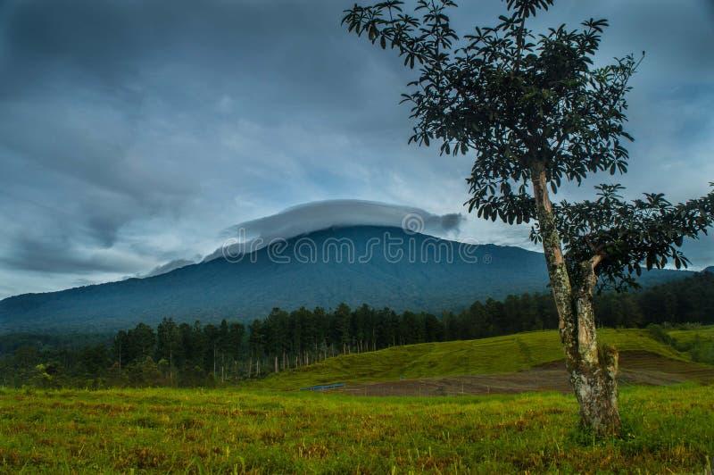 Гора Slamet стоковое изображение