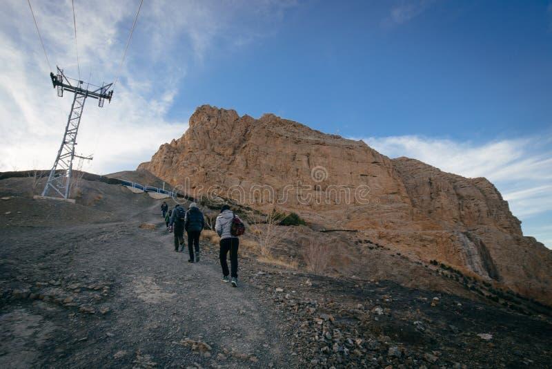 Гора Soffeh в Isfahan, Иране стоковые фотографии rf