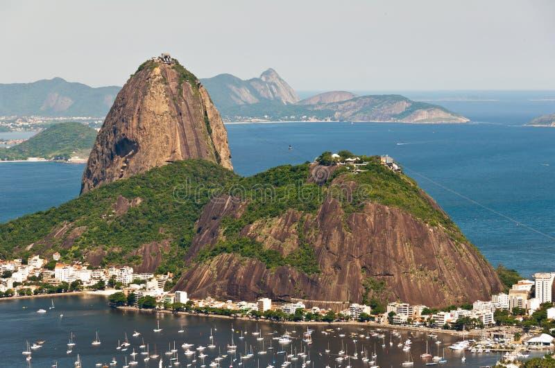 Гора Sugarloaf, Рио-де-Жанейро, Бразилия стоковые изображения