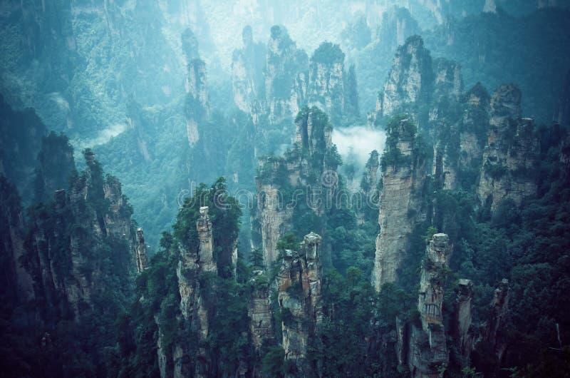 Гора Tianzi, Zhangjiajie Wulingyuan в Китае стоковое изображение