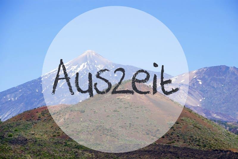 Гора Vulcano, время простоя середин Auszeit стоковое фото rf