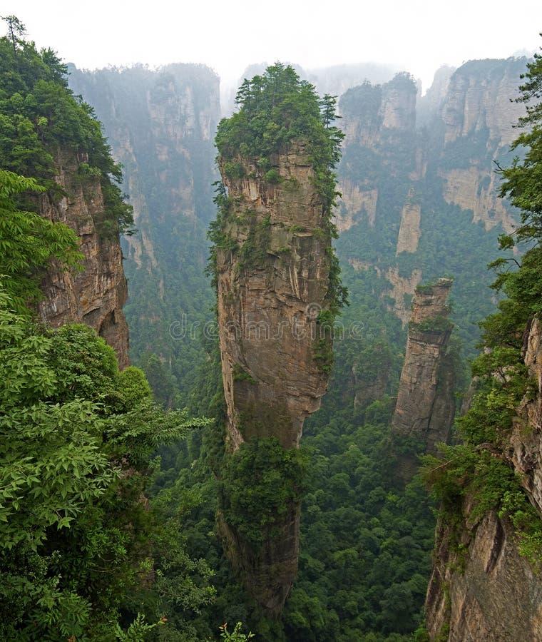 гора zhangjiajie hallelujah стоковое изображение