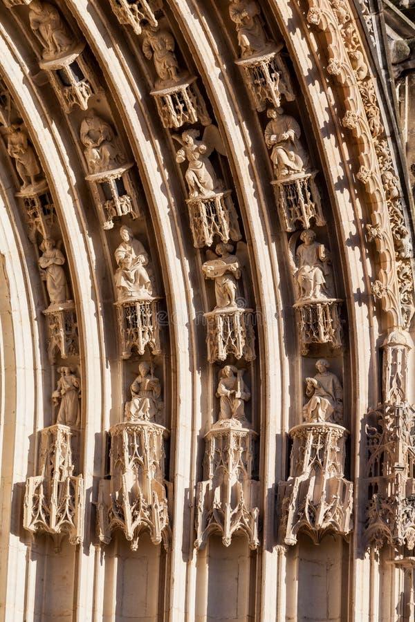 Горгульи Франции собора Буржа стоковые фотографии rf