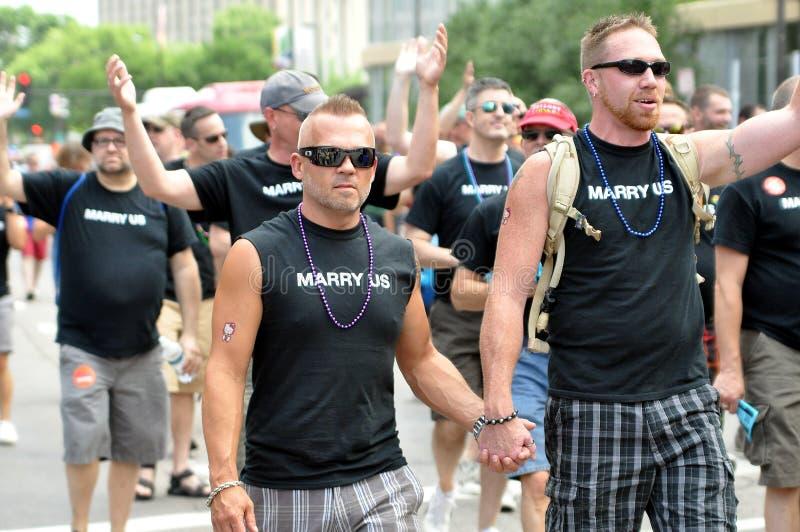 гордость голубого парада стоковые фотографии rf