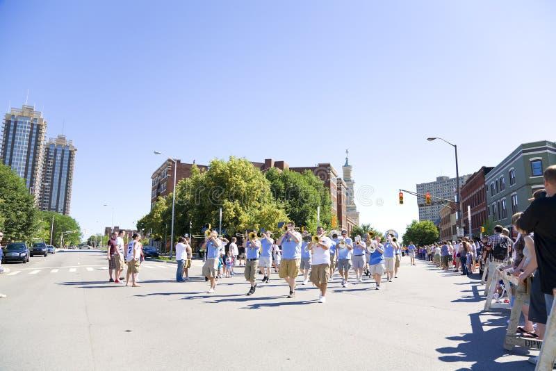 гордость голубого парада стоковое изображение
