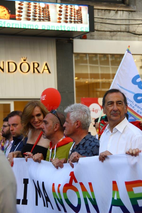 Гордость милана - 30-ое июня 2018 - Lombardia Италия стоковое изображение rf