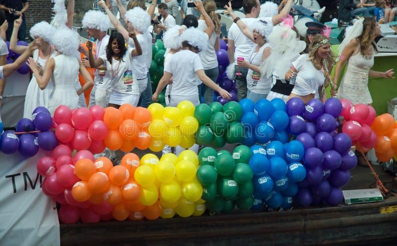 гордость 2011 гомосексуалиста amsterdam стоковое изображение