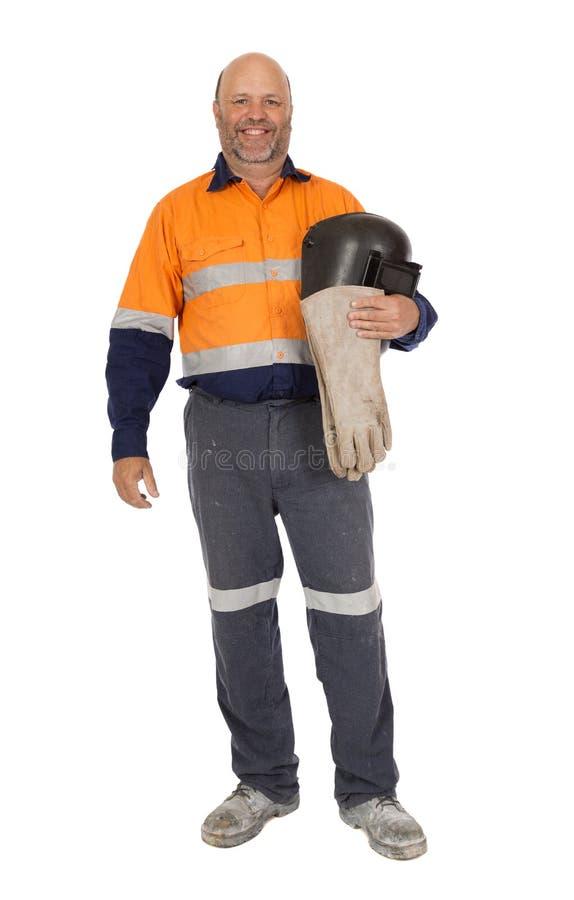 Гордый и счастливый работник стоковое фото