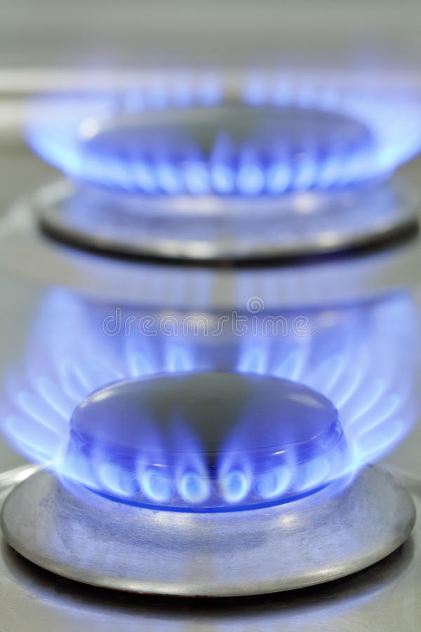Горелка газовой плиты стоковые фотографии rf