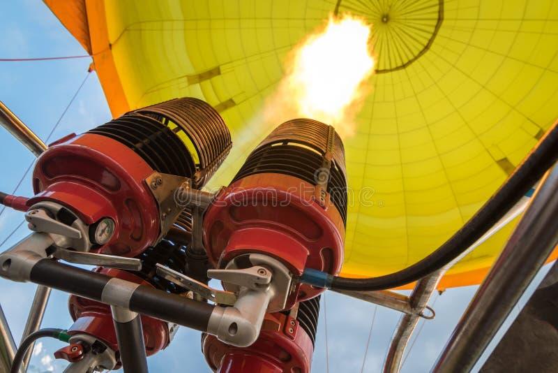 Горелки горячего воздушного шара стоковая фотография rf