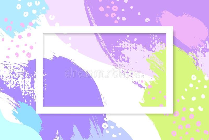 Горизонтальная предпосылка с copyspace и различными ходами щетки Изображение заголовка с местом для текста Резюмируйте художестве бесплатная иллюстрация