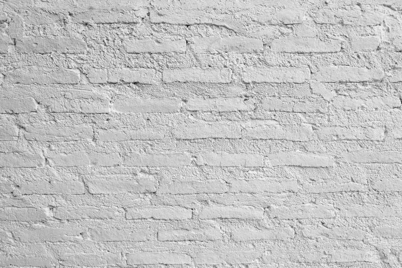 Горизонтальная текстура белой кирпичной стены стоковое изображение