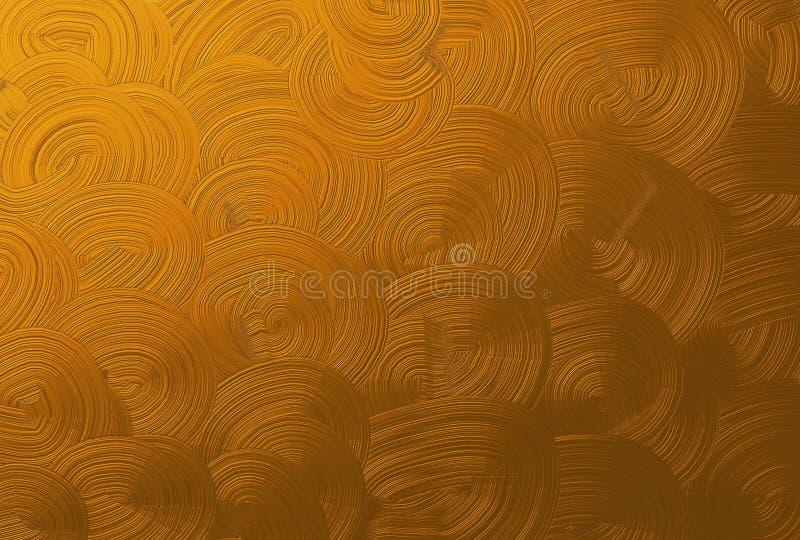 Горизонтальная текстура предпосылки картины золота спиральной стоковое изображение