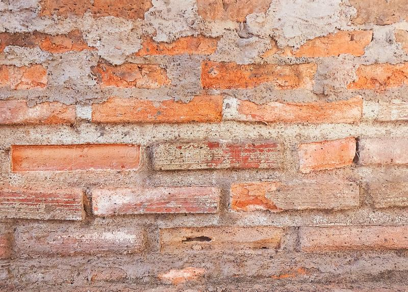 Горизонтальная текстура предпосылки красной кирпичной стены стоковые фото