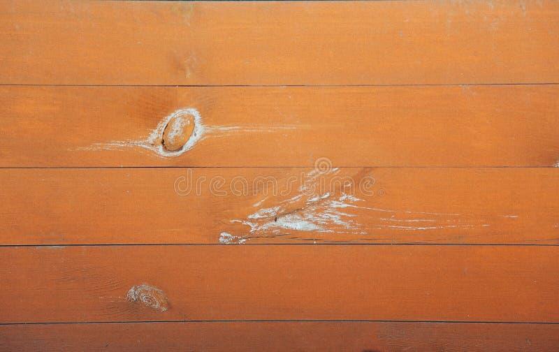 Горизонтальный коричневый цвет деревянной доски с суками на поверхности стоковое фото rf