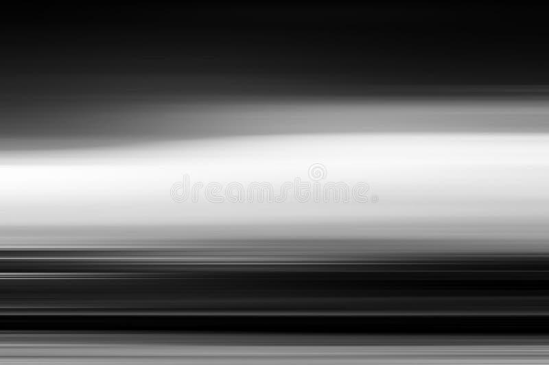 Горизонтальный яркий пустой пустой ландшафт в движении стоковое изображение