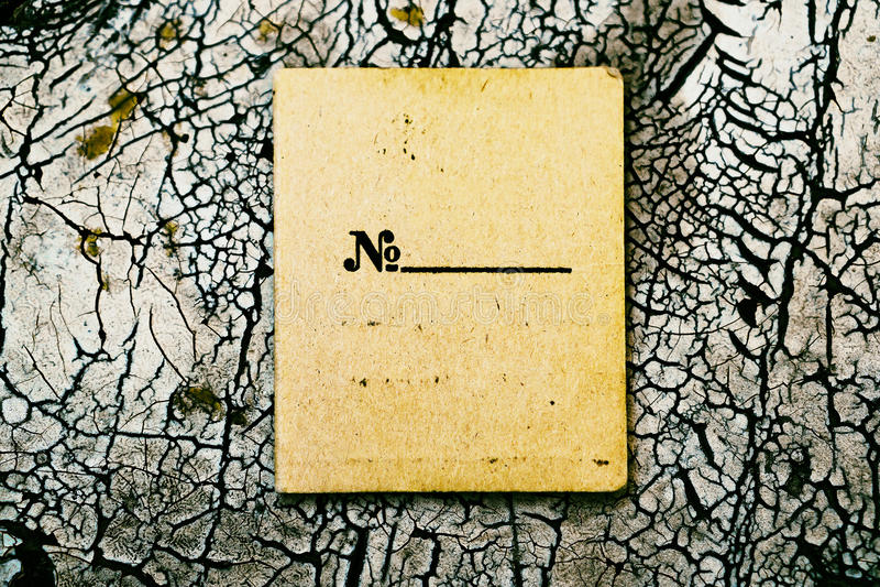 Горизонтальная винтажная коричневая пустая текстурированная карточка стоковые изображения rf