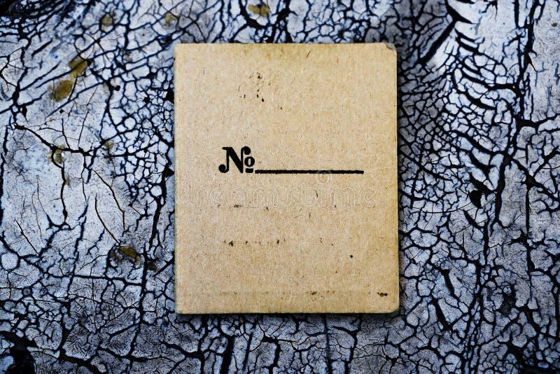 Горизонтальная винтажная пустая текстурированная карточка стоковое фото