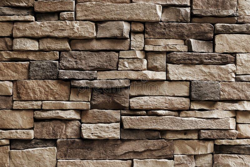 Горизонтальная текстура несимметричной стены камней стоковые фото