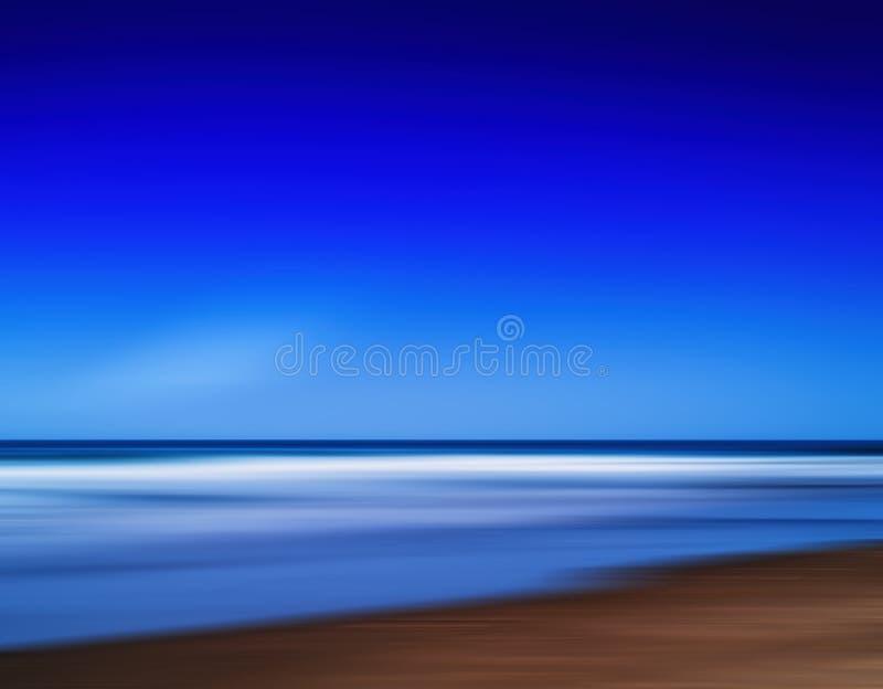 Горизонтальная яркая живая абстракция движения океана пляжа рая стоковое изображение