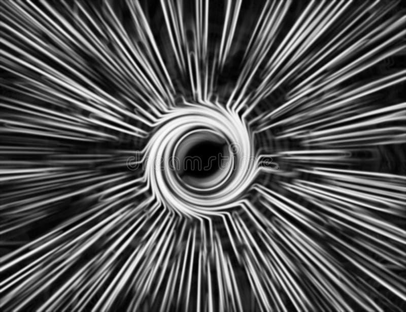 Горизонтальное запачканное черно-белое teleport ба абстракции свирли стоковое фото