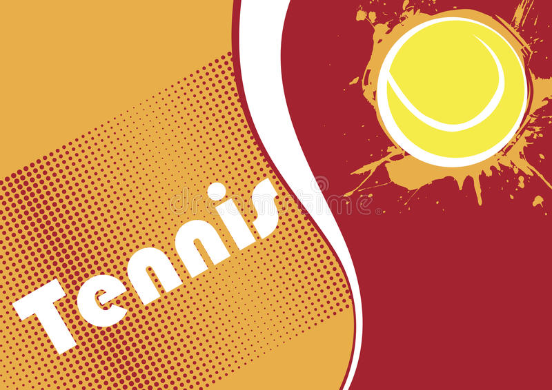 Горизонтальное знамя тенниса абстрактные многоточия Предпосылка тенниса иллюстрация вектора