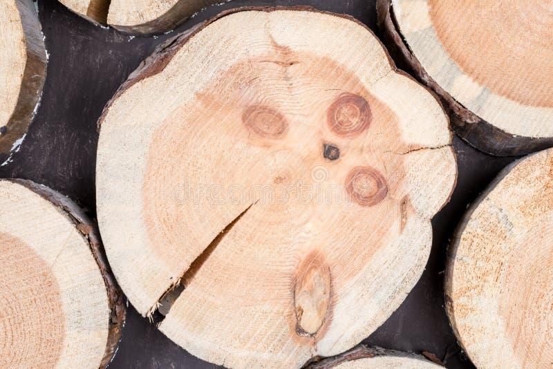 Горизонтальное logveno древесины предпосылки стоковые фотографии rf