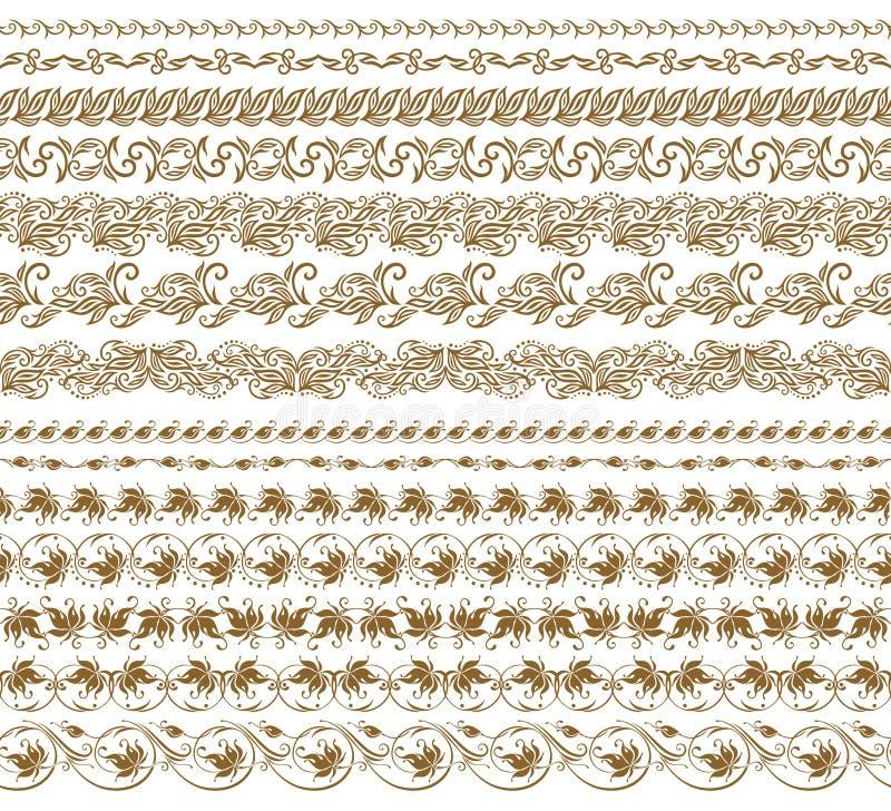 Горизонтальный вектор украшения элементов иллюстрация вектора