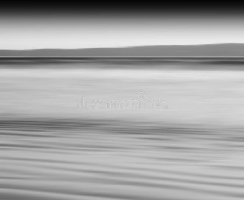 Горизонтальный черно-белый ба абстракции нерезкости движения молока океана стоковые изображения