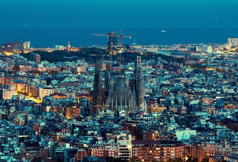 Горизонт Барселоны, Испания стоковые фотографии rf