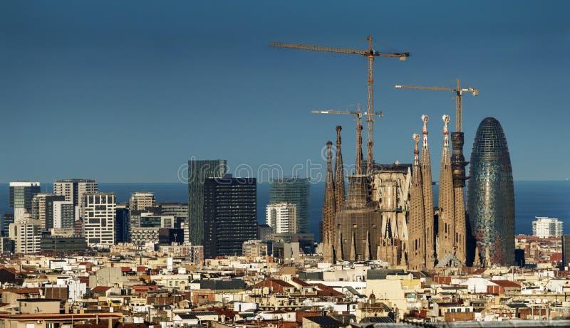 Горизонт Барселоны, Испания стоковое фото rf