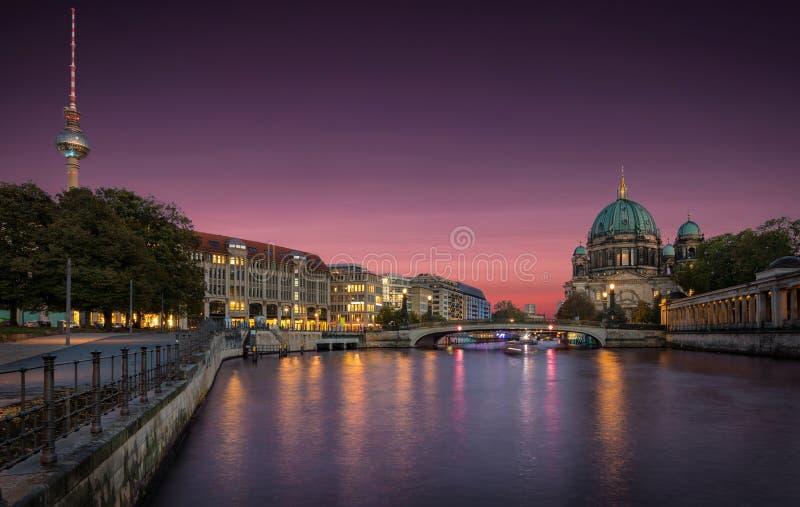 Горизонт Берлина, Германии стоковые фотографии rf