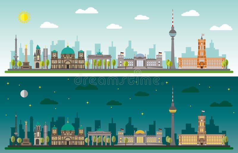 Горизонт Берлина бесплатная иллюстрация