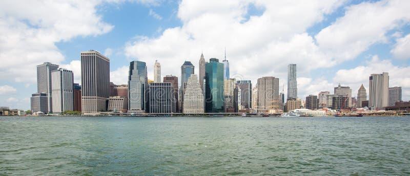 Горизонт более низкого Манхаттана, Нью-Йорка стоковое изображение