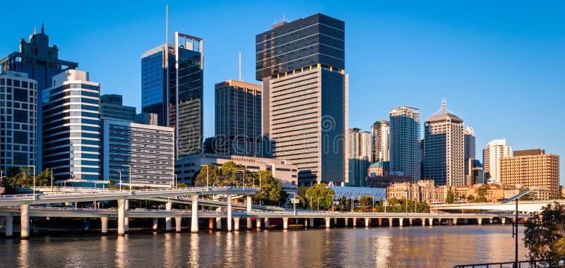 Горизонт Брисбена, Австралия стоковые фотографии rf