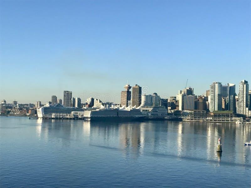 Горизонт Британской Колумбии Ванкувера в дне стоковое изображение rf