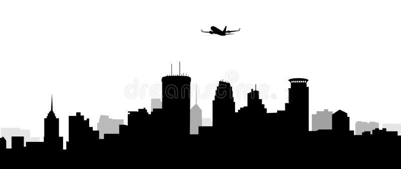 Горизонт-вектор Миннеаполиса иллюстрация штока